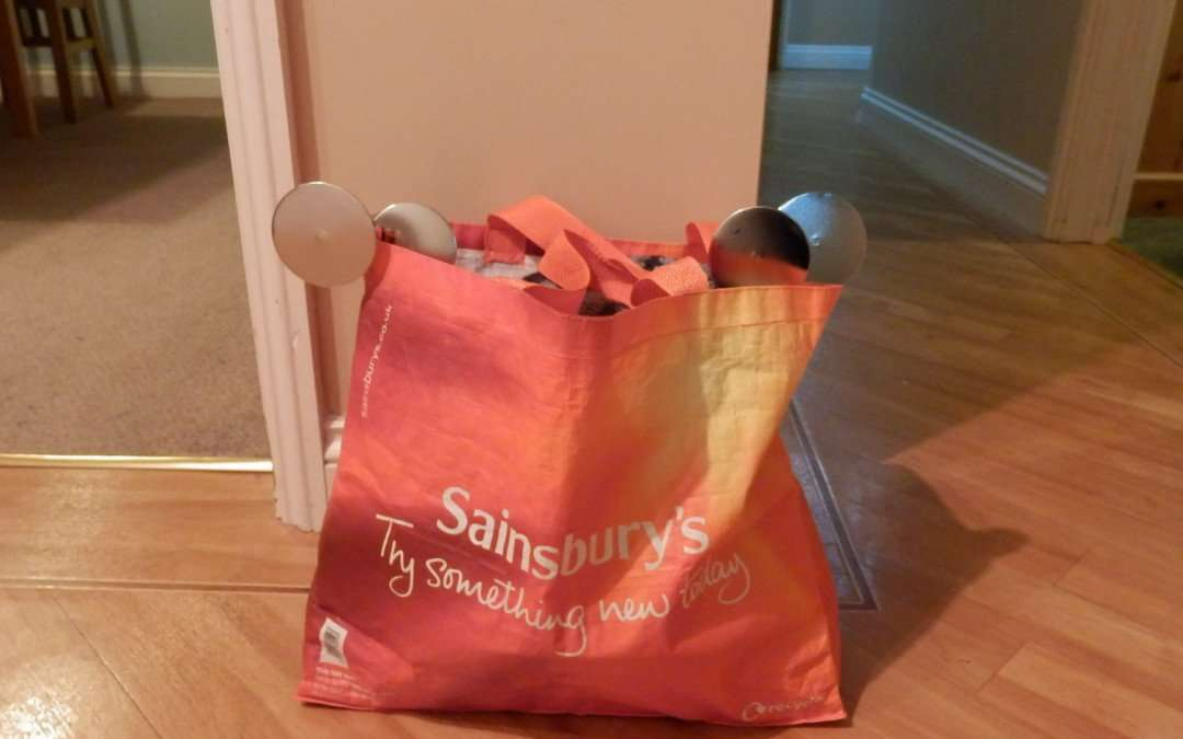 What's that poking out of the Sainsburys bag?!!!